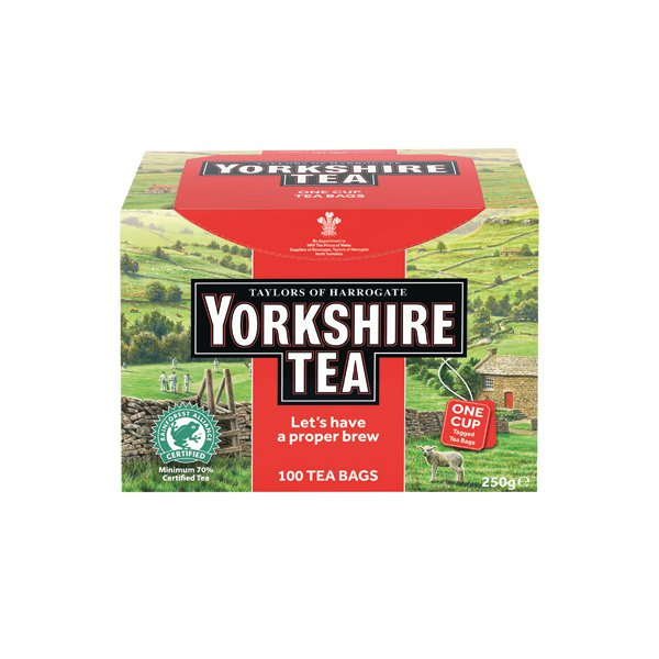 Yorkshire Tea One Cup String and Tag Tea Bags Pk100 2680UK