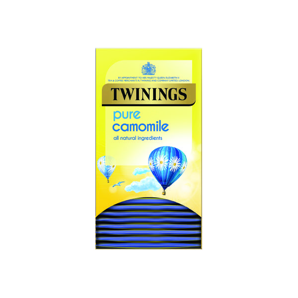 Twinings Pure Camomile Herbal Infusion Tea Bags (Pack of 20) F14379