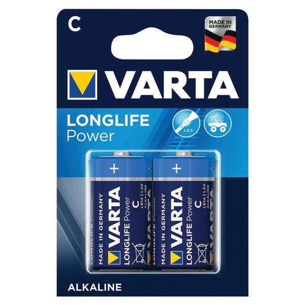 Varta C High Energy Battery Alkaline 4914121412 Pack of 2