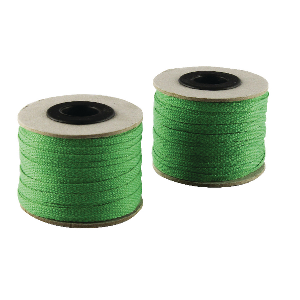 China Ribbon Cotton Green Roll 4mm x 30m 9702004EME30