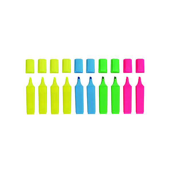 Assorted Hi-Glo Highlighter (Pack of 10) 8440PK10