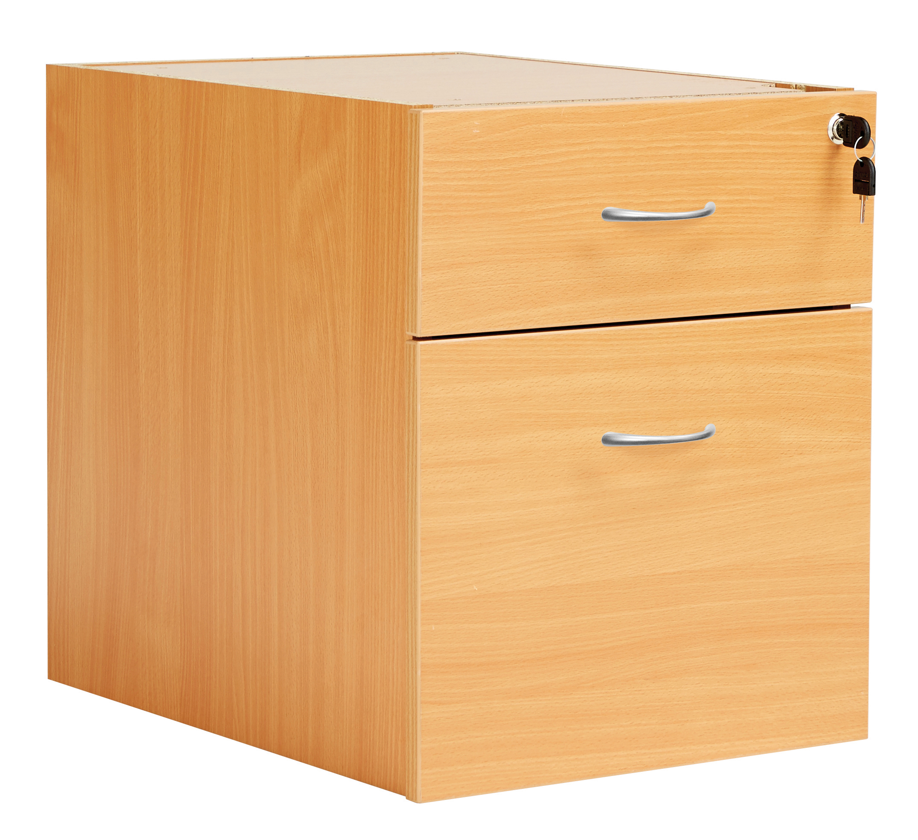 Fraction Plus 2 Drawer Fixed Pedestal - Beech