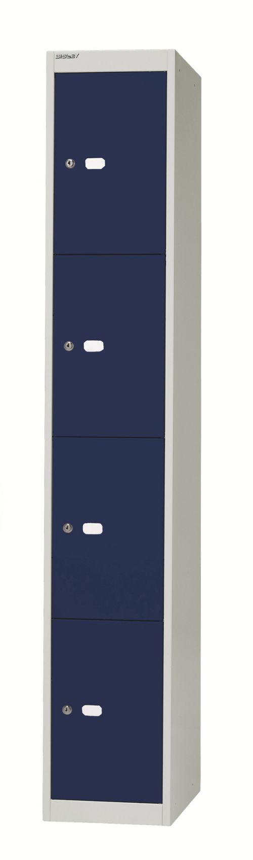 Bisley 4 Door 30.5 Locker - Grey Blue