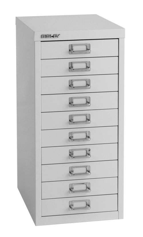 Bisley 10 Drawer Home 29 Series Steel Multidrawer - Goose Grey