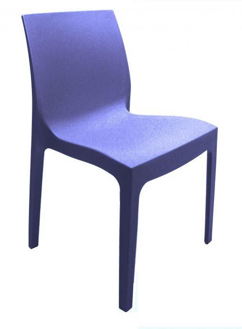 Strata Polypropylene Chair - Blue