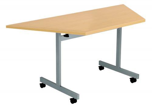 One Eighty Trapezoidal Flip Top Meeting Table - Nova Oak