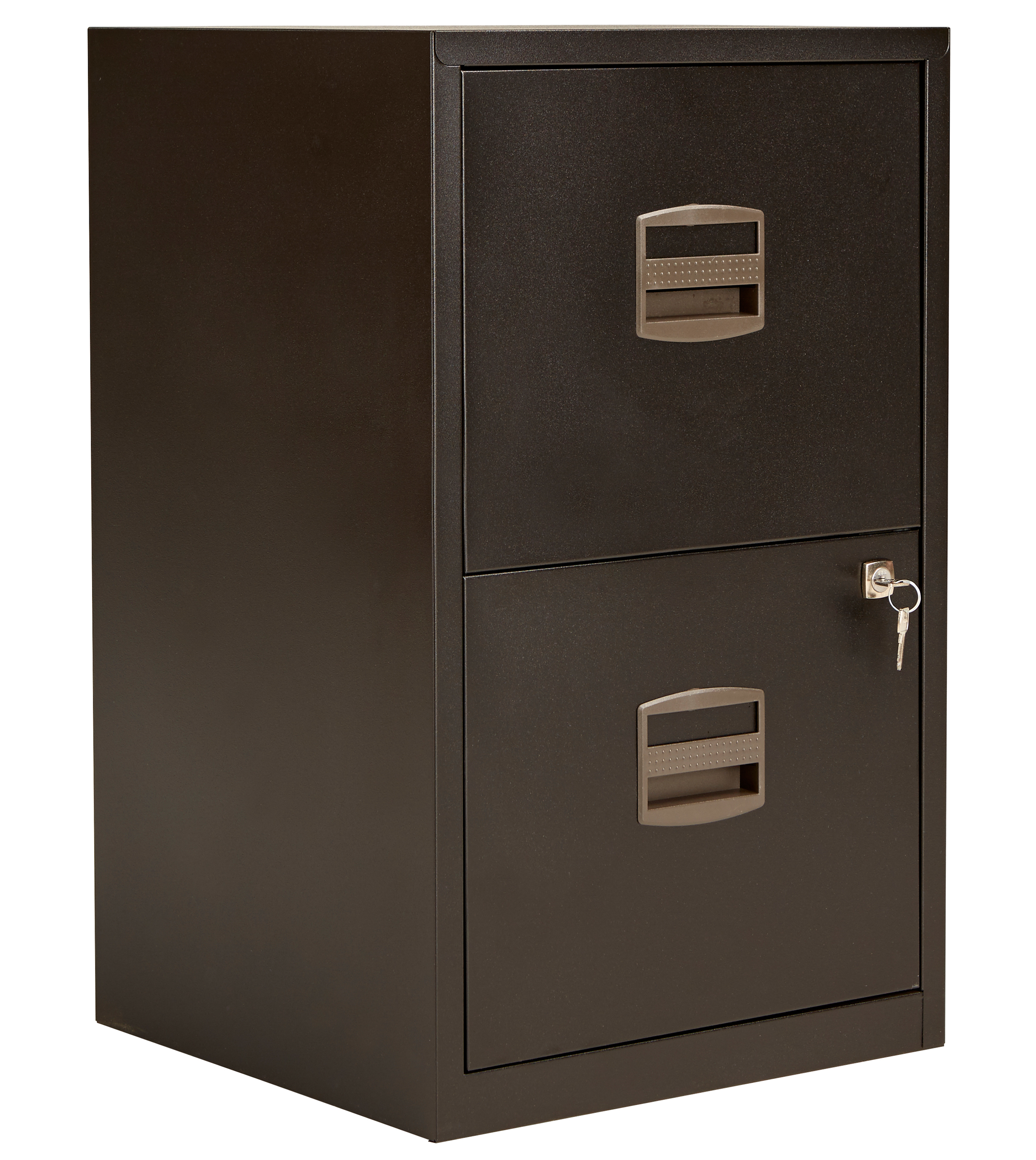 Bisley 2 Drawer A4 Home Filing Cabinet - Black